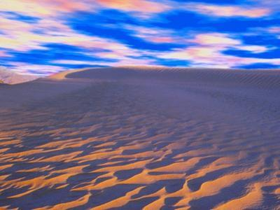 Multicolored Sky over Sand Dunes