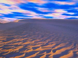 Multicolored Sky over Sand Dunes by Cindy Kassab