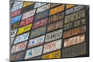 Australia, Alice Springs. Display of Assorted License Plates by Cindy Miller Hopkins