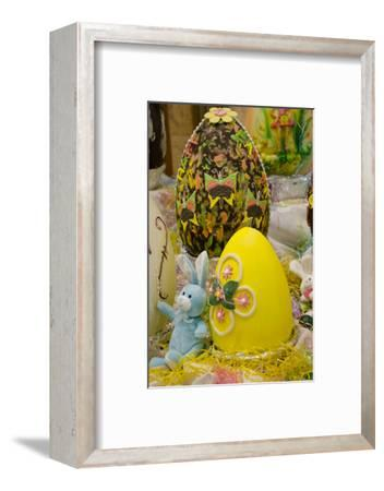 Australia. Easter Display of Chocolate Eggs and Stuffed Easter Bunny