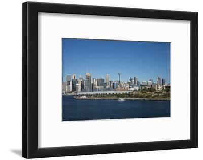 Australia, Sydney. Downtown Skyline from White Bay Harbor