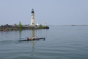 Buffalo Lighthouse, 1833, Us Coast Guard Base, Lake Erie, Buffalo, New York, USA by Cindy Miller Hopkins