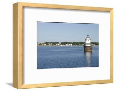 Butler Flats Light, Spark Plug Lighthouse at New Bedford Harbor, Massachusetts, USA