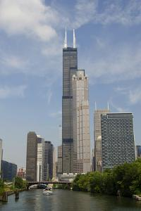 Chicago River Skyline View of the Willis Tower, Chicago, Illinois, USA by Cindy Miller Hopkins