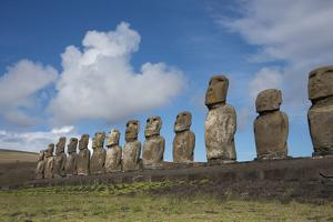 Chile, Easter Island, Hanga Nui. Rapa Nui, Ahu Tongariki. Moi Statues by Cindy Miller Hopkins