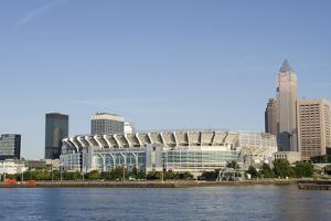 Cleveland Browns Stadium and City Skyline, Ohio, USA by Cindy Miller Hopkins