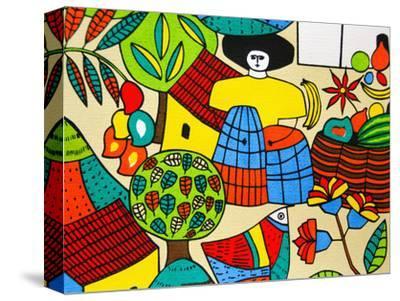 Detail of Llort Painting, Fernando Llort Gallery, San Salvador, El Salvador
