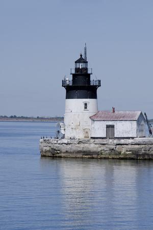 Detroit River Lighthouse, Wyandotte, Detroit River, Lake Erie, Michigan, USA