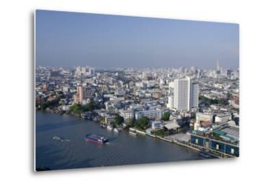 Downtown Bangkok Skyline View with Chao Phraya River, Thailand