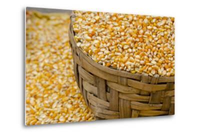 Dried Corn in Basket, Otavalo Handicraft Market, Quito, Ecuador