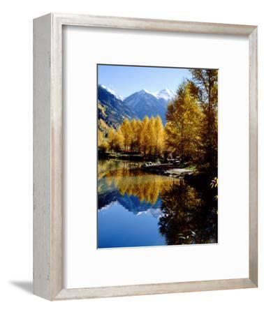 Fall Colors Reflected in Mountain Lake, Telluride, Colorado, USA