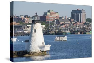 Fishing Boats, Palmer Island Lighthouse, New Bedford Harbor, Massachusetts, USA