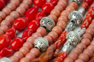 Glass and Silver Bead Necklaces, Otavalo Market, Quito, Ecuador by Cindy Miller Hopkins