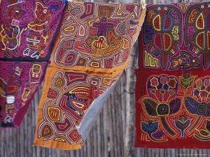 Hand-Stitched Molas, Kuna Indian, San Blas Islands, Panama by Cindy Miller Hopkins