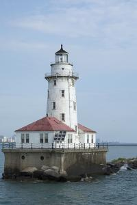 Illinois, Chicago. Lake Michigan, Chicago Harbor Light by Cindy Miller Hopkins