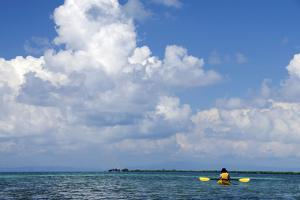 Kayaking around Barrier Reef, Southwater Cay, Belize by Cindy Miller Hopkins
