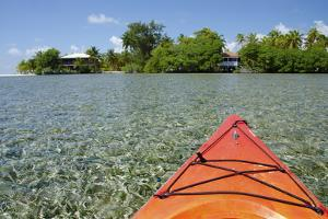 Kayaking in the Shallow Water, Southwater Cay, Stann Creek, Belize by Cindy Miller Hopkins