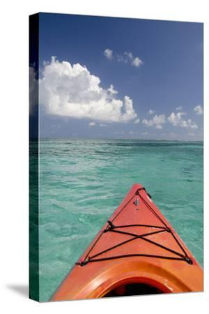 Kayaking Off the Coast, Southwater Cay, Belize