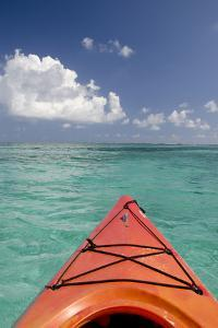 Kayaking Off the Coast, Southwater Cay, Belize by Cindy Miller Hopkins