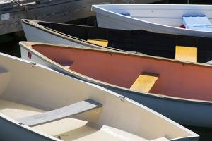 Maine, Rockland. Colorful Boats in Rockland Marina by Cindy Miller Hopkins