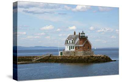 Maine, Rockland, Penobscot Bay. Historic Rockland Breakwater Light