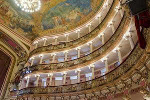 Manaus Opera House Ballroom, Ceiling and Balcony, Amazon, Brazil by Cindy Miller Hopkins