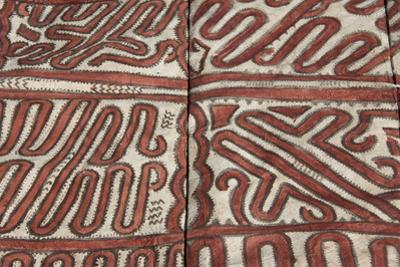 Melanesia, Papua New Guinea, Tufi. Traditional Handmade Tapa Cloth by Cindy Miller Hopkins