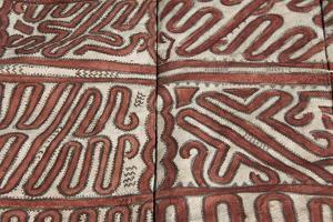 Melanesia, Papua New Guinea, Tufi. Traditional Handmade Tapa Cloth by Cindy Miller Hopkins