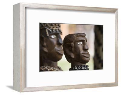 Melanesia, Solomon Islands, Guadalcanal Island. Wood Carved Figurine