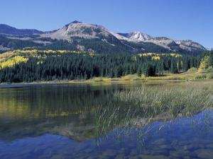 Mountains Reflected in Lost Lake, Crested Butte, Colorado, USA by Cindy Miller Hopkins