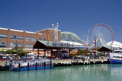 Navy Pier Along the Shores of Lake Michigan, Chicago, Illinois
