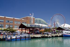 Navy Pier Along the Shores of Lake Michigan, Chicago, Illinois by Cindy Miller Hopkins