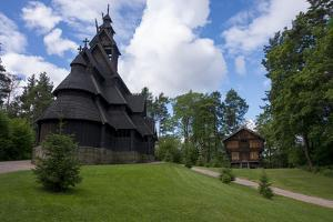 Norway, Oslo. Historic Wooden Stave Church from Gol by Cindy Miller Hopkins