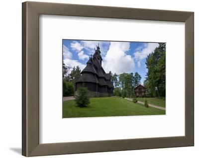 Norway, Oslo. Historic Wooden Stave Church from Gol