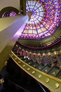 Old State Capitol Building, Spiral Staircase, Baton Rouge, Louisiana, USA by Cindy Miller Hopkins