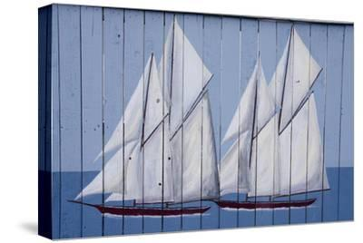Painted Fence with Boat, H. Lee White Marine Museum, Oswego, New York, USA