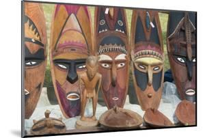 Papua New Guinea, Murik Lakes, Karau Village. Carved Wooden Masks by Cindy Miller Hopkins