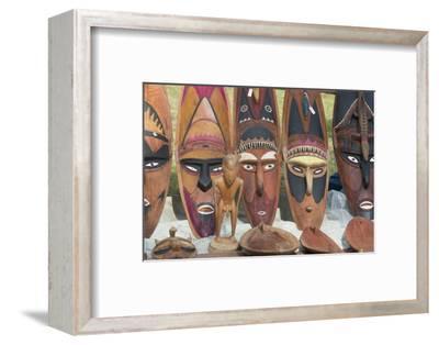 Papua New Guinea, Murik Lakes, Karau Village. Carved Wooden Masks