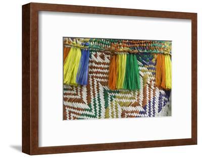Papua New Guinea, Murik Lakes, Karau Village. Woven Straw Bag