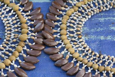 Papua New Guinea, Sepik River Area, Village of Kopar. Necklaces by Cindy Miller Hopkins