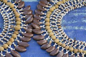 Papua New Guinea, Sepik River Area, Village of Kopar. Necklaces by Cindy Miller Hopkins