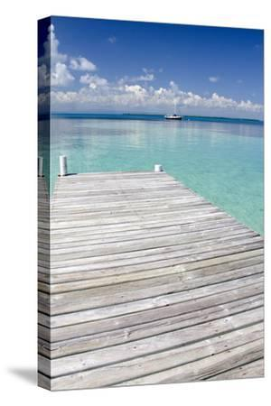 Pier over Clear Waters, Southwater Cay, Stann Creek, Belize