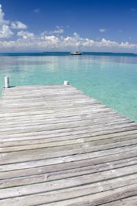 Pier over Clear Waters, Southwater Cay, Stann Creek, Belize by Cindy Miller Hopkins