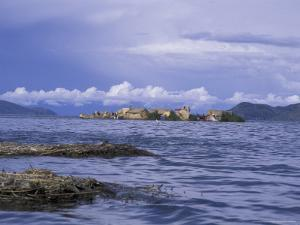 Reed Homes, Uros Floating Islands, Lake Titicaca, Peru by Cindy Miller Hopkins