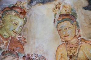 Sri Lanka, Sigiriya. Fresco of 'The Maidens of the Clouds'. by Cindy Miller Hopkins