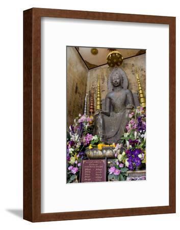 Stone Buddha in Seated Posture, Wat Na Phramane, Ayuthaya, Thailand
