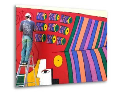 Stylized Llort Artwork Painted on Gallery Wall, Fernando Llort Gallery, San Salvador, El Salvador
