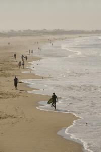 Surfer and People on Pismo State Beach, Pismo Beach, California, USA by Cindy Miller Hopkins