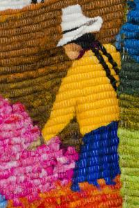 Traditional Wool Rug, Otavalo Handicraft Market, Quito, Ecuador by Cindy Miller Hopkins