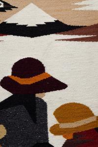 Traditional Wool Rug, Otavalo Handicraft Market, Quito, Ecuador by Cindy Miller Hopkins